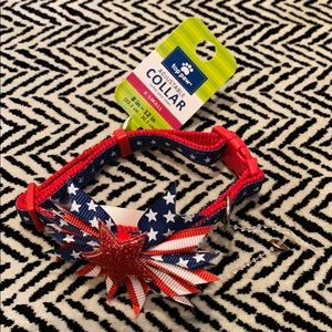 NWT Patriotic extra small dog collar